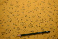 Yellow-Quotation-Floral-Cotton